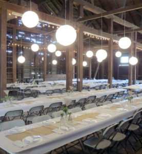Interior Wedding White Rectangle Tables and Chairs_1900 Red Barn